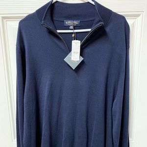 Brooks Brothers Navy blue pullover NWT $108